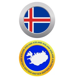 Button as a symbol iceland vector