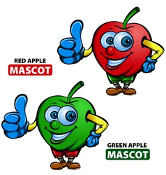 Apple mascot vector
