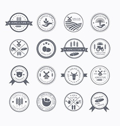 Agriculture and farming logos vector