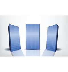 Solar panels set vector