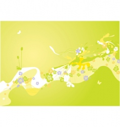 Spring decoration vector