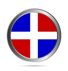 Dominicanrepublic flag button vector