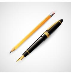 Pencils and pens vector