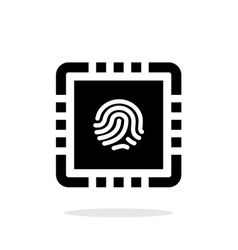Cpu secure simple icon on white background vector