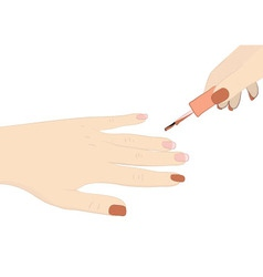 Paint your nails vector