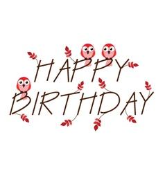 Birthday red vector