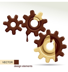 Confectionery gears vector