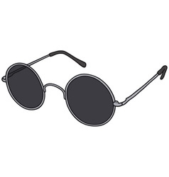 Black glasses vector