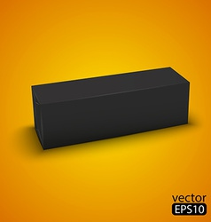 Black wrap box package vector
