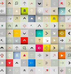 Abstract arrows in squares seamless background vector