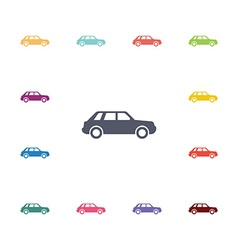 Car flat icons set vector