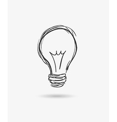 Bulb idea design vector