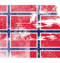 Flag of norway with old texture vector