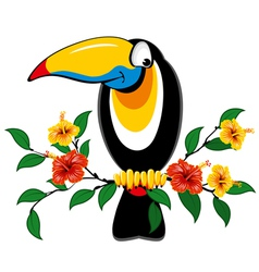 Cheerful toucan vector