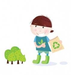 Forest recycle icon vector