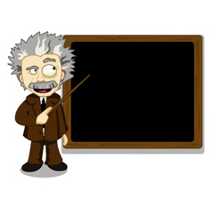 Funny teacher vector