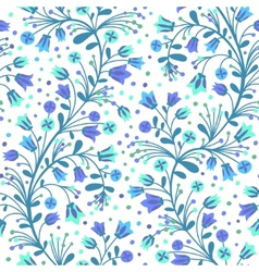 Flowering bluebells vector