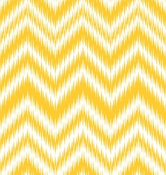 Yellow ikat chevron vector