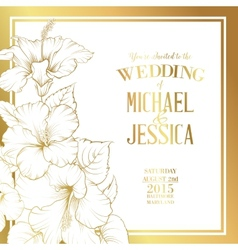 Wedding invitation text vector