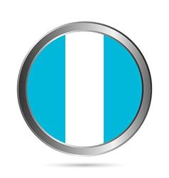 Guatemala flag button vector