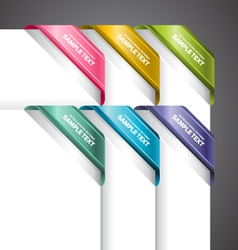 Bookmark labels corner vector