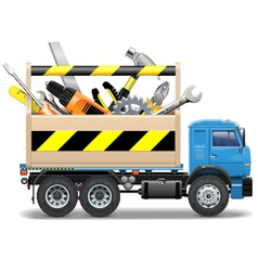 Toolbox and truck vector