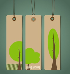 Nature banner eco organic labels and tags set vector