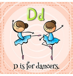 A letter d for dancers vector