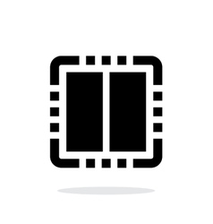 Dual core cpu simple icon on white background vector
