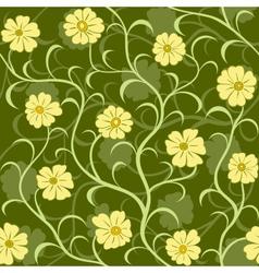 Flower field seamless pattern vector