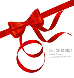 Shiny red ribbon background vector