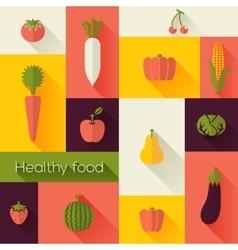 Healthy food and farm fresh concept vector