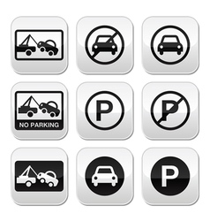No parking cars buttons set vector
