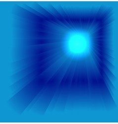 Blue star burst background vector