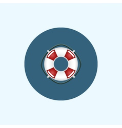 Icon with colored lifebuoy vector