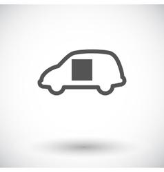 Car sliding door vector