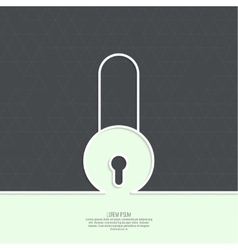 Lock with a shield vector