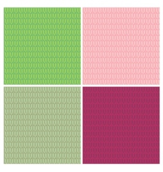 Grainy mosaic seamless set vector
