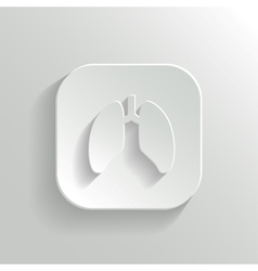 Lungs icon - white app button vector