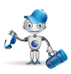 Cute robot sportsman vector