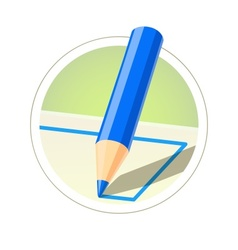Colour pencil for drawing vector