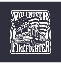 Vintage firefighter emblem vector
