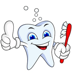 Tooth cartoon vector
