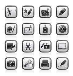 Graphic and web design icons vector