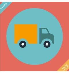 Truck icon -  flat design vector