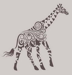 Giraffe ornament vector