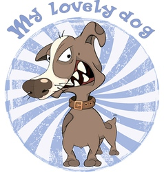 Hunting dog badge cartoon vector