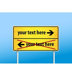 Yellow sign with place for your own text vector