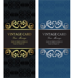Luxury vintage cards vector