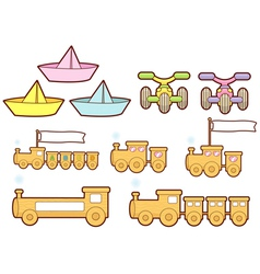The various transportation sets vector